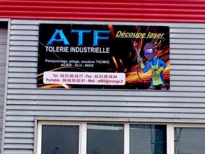 creation enseigne Panneau en Dibond avec visuel imprime - guyonnet publicite fontenay le comte vendee 85