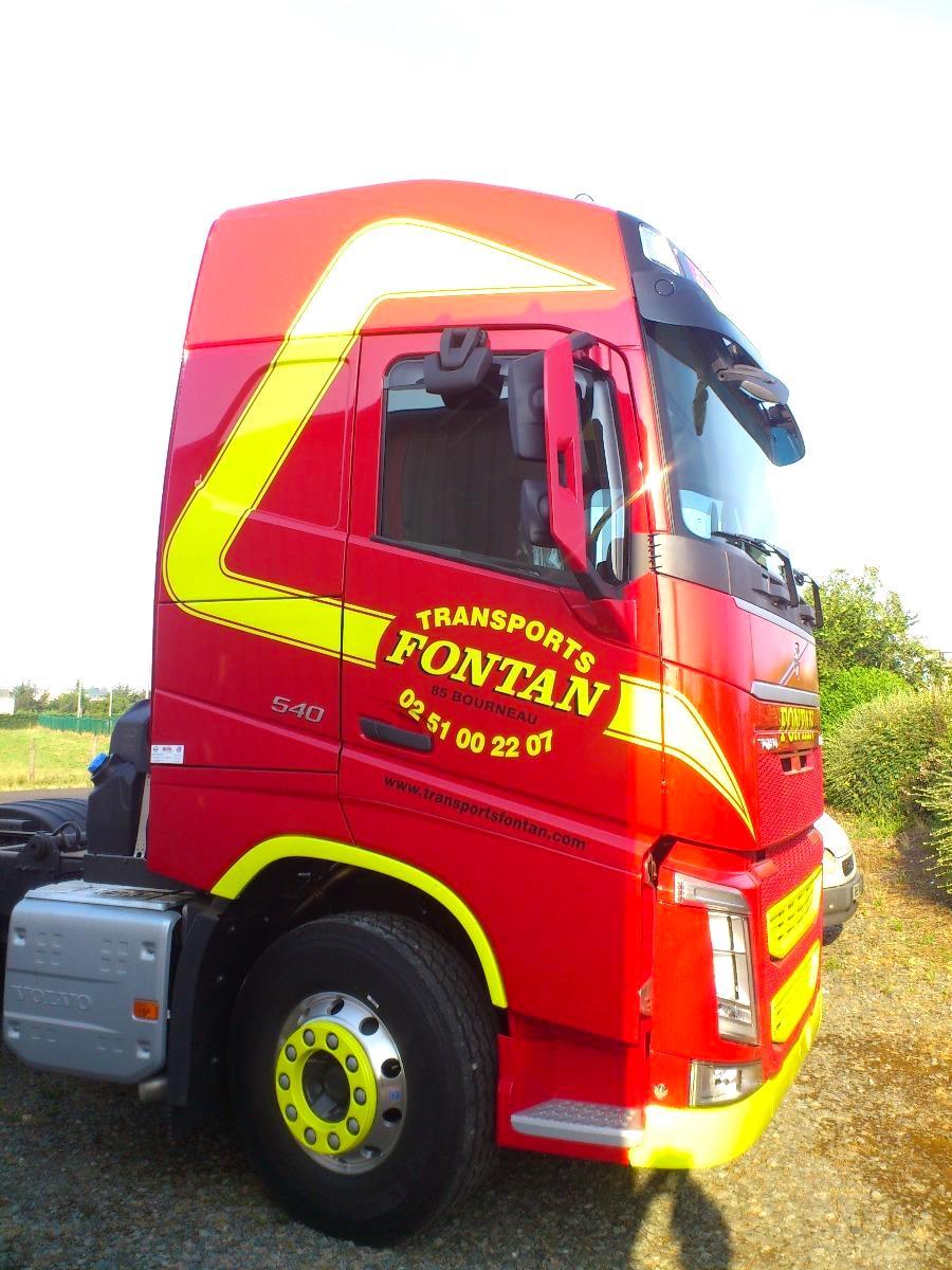 marquage camion FONTAN guyonnet publicite fontenay le comte vendee