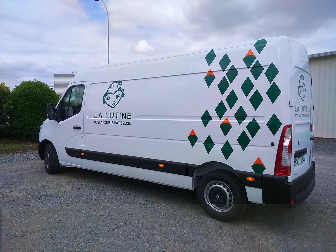 marquage camion la Lutine guyonnet publicite fontenay le comte vendee