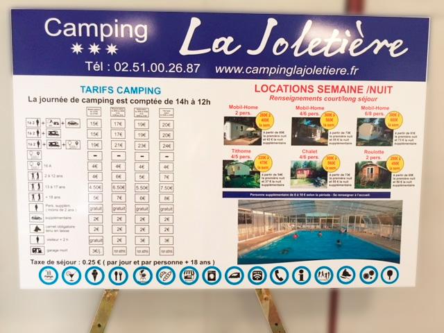Pancarte camping- GUYONNET PUBLICITE - Fontenay-le-Comte