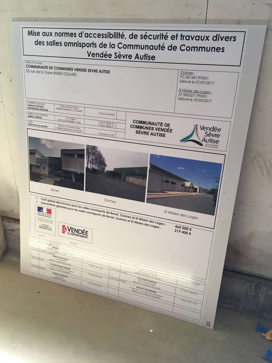 Panneau Communauté de Communes - GUYONNET PUBLICITE Fontenay-le-Comte