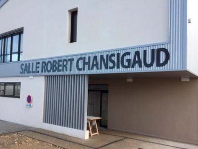 Enseigne Salle Robert Chansigaud - Guyonnet Publicité Fontenay-le-Comte
