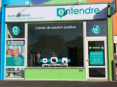 Vitrine Entendre - Guyonnet Publicité Fontenay-le-Comte