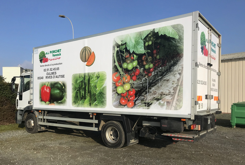 marquage camion maraicher porchet yannick Guyonnet Pub Fontenay le Comte