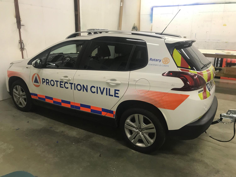 marquage vehicule protection civile Guyonnet Pub Fontenay le Comte