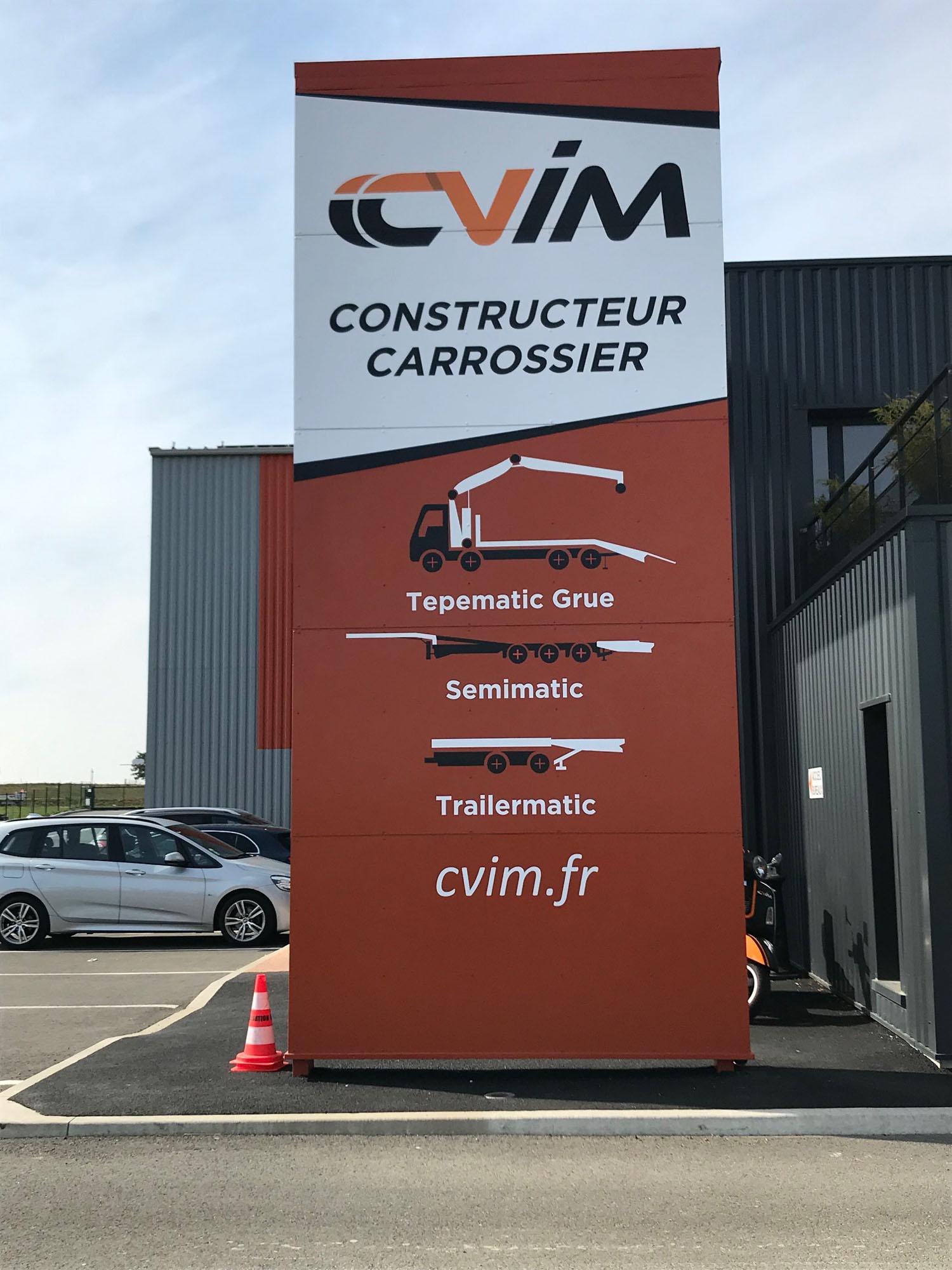 Totem CCVIM - Guyonnet Publicite Fontenay le Comte
